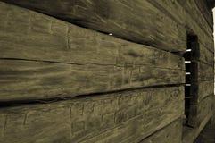 Рука построила бревенчатую хижину Стоковая Фотография