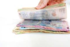 Рука подсчитывая деньги Стоковое Изображение RF
