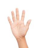 Рука подсчитывая путь клиппирования 5 Стоковые Фото