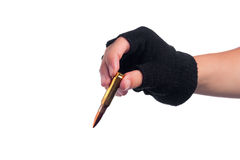 Рука принимая пулю Стоковые Фото