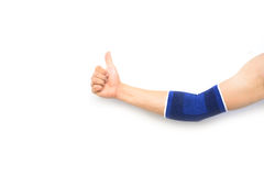 Рука при изолированная поддержка локтя Стоковое Изображение RF