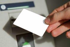 рука пустой карточки Стоковое фото RF