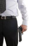 рука пушки его костюм человека Стоковое Изображение