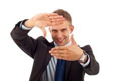 рука рамки дела делая человека Стоковые Фото