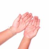 Рука ребенка пакостная Стоковая Фотография