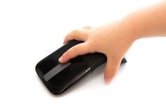 Рука ребенка с мышью Стоковые Изображения RF