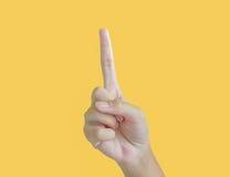 Рука ребенк подсчитывая одно Стоковые Фото