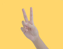 Рука ребенк подсчитывая 2 Стоковое Изображение