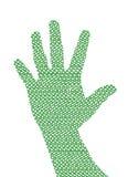 рука рециркулируя символ Стоковое Изображение RF