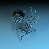 Рука робота с глобусом Стоковые Фото