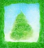 рука рождества карточки нарисованная конструкцией Стоковая Фотография RF