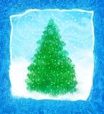 рука рождества карточки нарисованная конструкцией Стоковые Фотографии RF