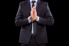 Рука связанная бизнесменами стоковое изображение