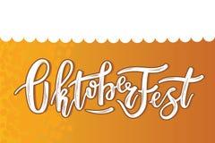 Рука сделала эскиз к тексту Octoberfest Стоковое Изображение