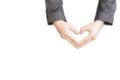 Рука сердца женщины Стоковые Фото