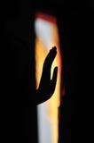 Рука силуэта Будды Азии Стоковые Фото
