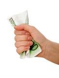 рука скомканная кредиткой стоковая фотография