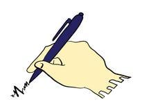 Рука сочинительства с иллюстрацией ручки Стоковые Изображения RF
