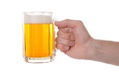 рука стекла пива Стоковая Фотография
