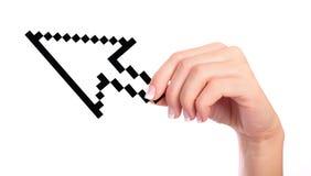 рука стрелки компьютера стоковое изображение rf