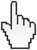 рука стрелки Стоковое фото RF