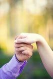 Рука счастливая в влюбленности Стоковое Изображение RF