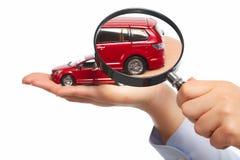 Рука с автомобилем. стоковые изображения rf