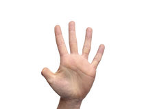 Рука с ампутированным пальцем большого пальца руки с комнатой для экземпляра Стоковые Фото