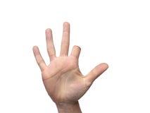 Рука с ампутированным указательным пальцем с комнатой для экземпляра стоковые фотографии rf