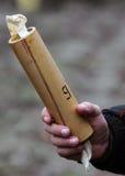 Рука с бомбой дыма Стоковое Изображение RF