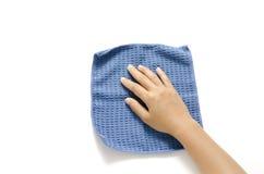 Рука с ветошью Стоковое Изображение RF