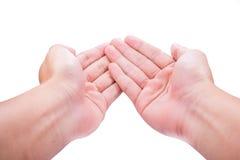 Рука слияния стоковое изображение