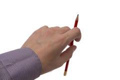 Рука с карандашем для сочинительства Стоковая Фотография RF