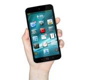 Рука с мобильным телефоном Стоковое фото RF
