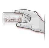 Рука с новой визитной карточкой Стоковое Изображение