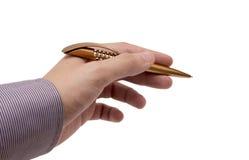 Рука с пер для сочинительства Стоковое Изображение RF