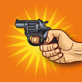 Рука с револьвером Стоковое Изображение