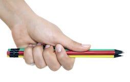 Рука с ручкой Стоковые Изображения RF