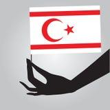 Рука с флагом северным Кипром бесплатная иллюстрация
