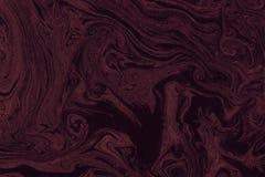 Рука текстуры мрамора Suminagashi покрашенная с коричневым цветом стоковые изображения rf