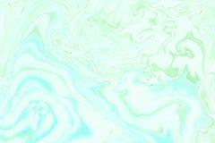 Рука текстуры мрамора Suminagashi покрашенная с teal Стоковые Изображения