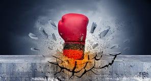 Рука ударяет интенсивное и перерывы stonewall бесплатная иллюстрация