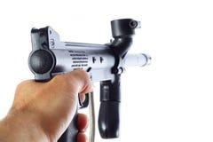 рука указывая оружие Стоковая Фотография