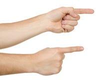 рука указывая отжимать касатьющся 2 стоковые изображения rf