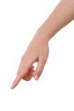 рука указывая отжимающ касатьться стоковые фото