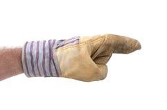 рука указывая правый s к работнику Стоковые Фото