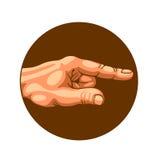 Рука указывая путь Стоковое Изображение RF