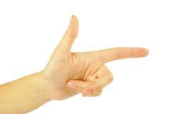 рука указывая стрельба Стоковое Фото