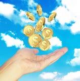 Рука хочет деньги Стоковое Фото