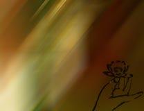 рука цветка предпосылки цветастая Стоковая Фотография